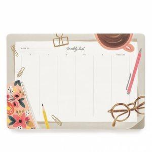 Rifle Paper Co. Desktop Weekly Planner Desk Pad